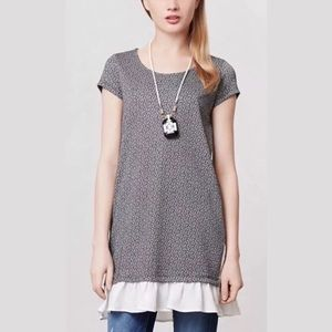 Anthropologie Clu + Willoughby Flutter Tunic
